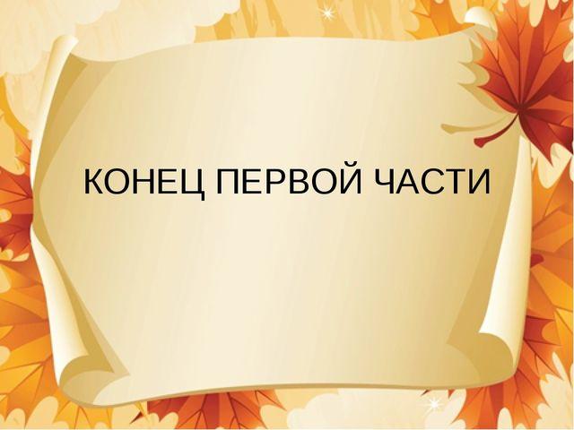 КОНЕЦ ПЕРВОЙ ЧАСТИ