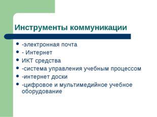 Инструменты коммуникации -электронная почта - Интернет ИКТ средства -система