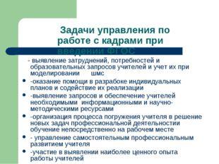 Задачи управления по работе с кадрами при введении ФГОС - выявление затрудне