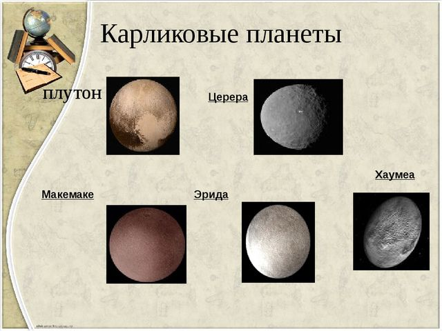 Карликовые планеты плутон Церера Макемаке Эрида Хаумеа