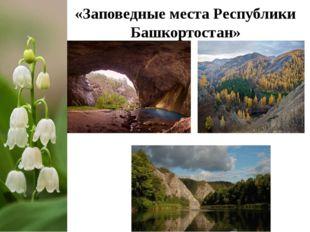 «Заповедные места Республики Башкортостан»