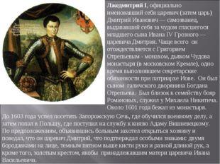 Лжедмитрий I, официально именовавший себя царевич (затем царь) Дмитрий Иванов