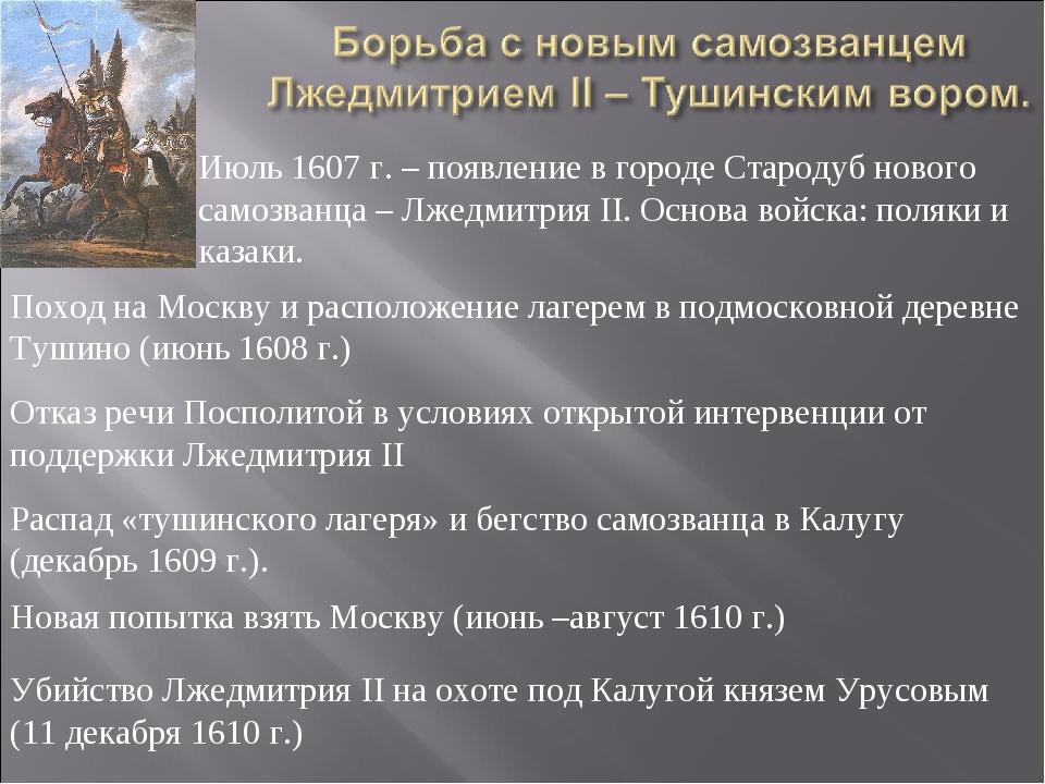 Распад «тушинского лагеря» и бегство самозванца в Калугу (декабрь 1609 г.). О...