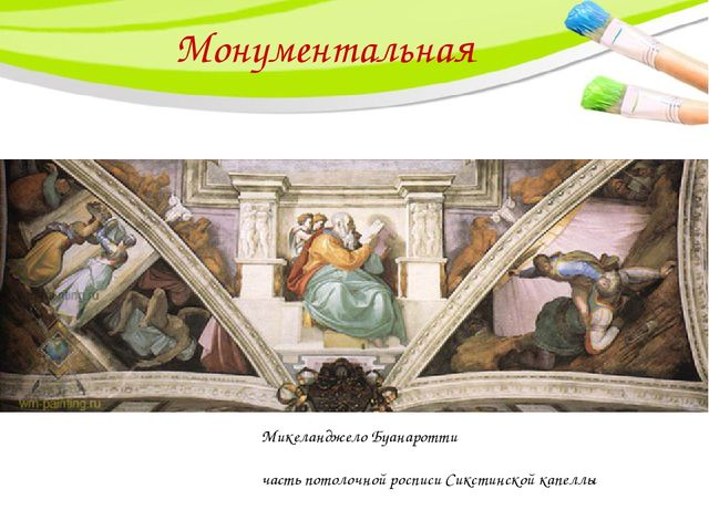 Монументальная Микеланджело Буанаротти часть потолочной росписи Сикстинской к...
