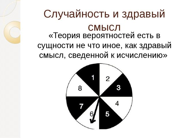 Случайность и здравый смысл «Теория вероятностей есть в сущности не что иное,...