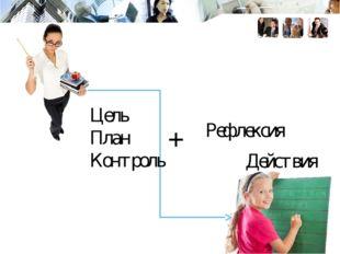 Цель План Контроль Действия Рефлексия +
