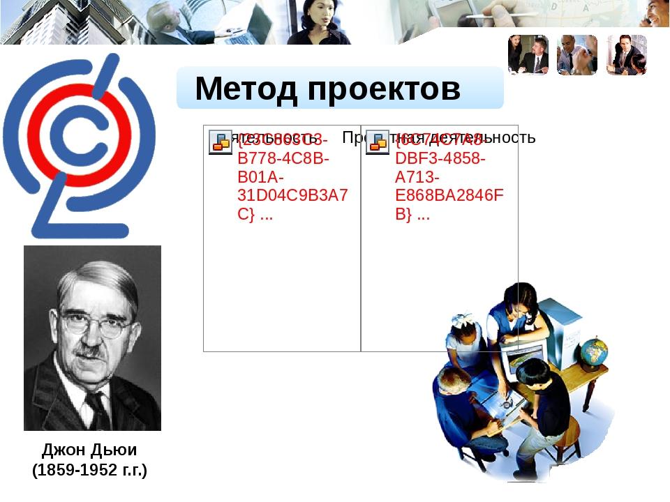 Джон Дьюи (1859-1952 г.г.) Метод проектов