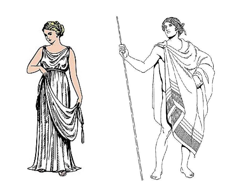 Обрати внимание на греческие костюмы. Женщины одеты в лёгкие хитоны рубахи из...