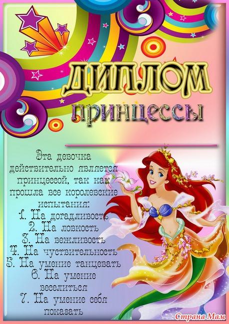 Сценарий дня рожденья девочки 10 лет принцессы