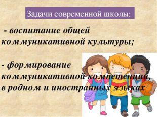 - воспитание общей коммуникативной культуры; - формирование коммуникативной