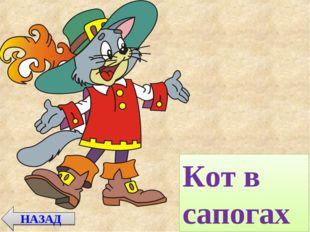 НАЗАД Кот в сапогах