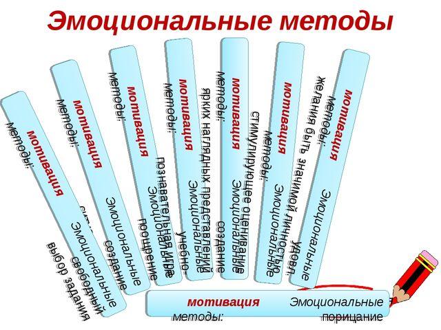 М О Т И В А Ц И Я мотивация Эмоциональные методы: поощрение мотивация Эмоцион...