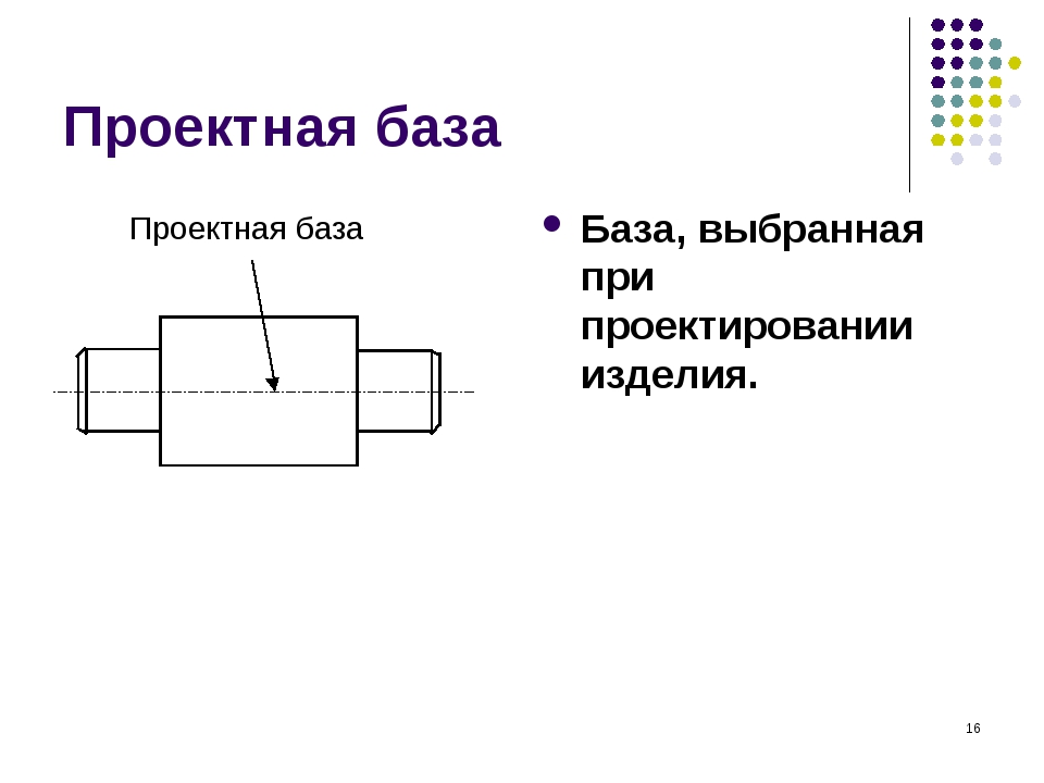 * Проектная база База, выбранная при проектировании изделия.