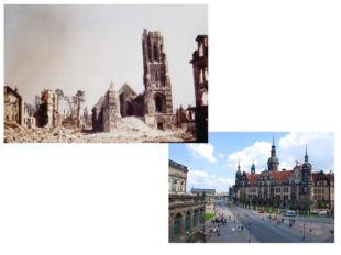 В 1945 году немецкий город Дрезден подвергся разрушительной бомбардировке вое