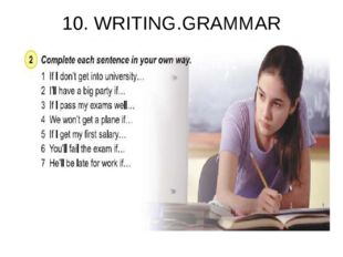 10. WRITING.GRAMMAR