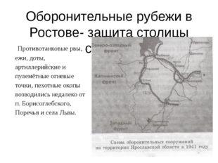 Оборонительные рубежи в Ростове- защита столицы страны. Противотанковые рвы,