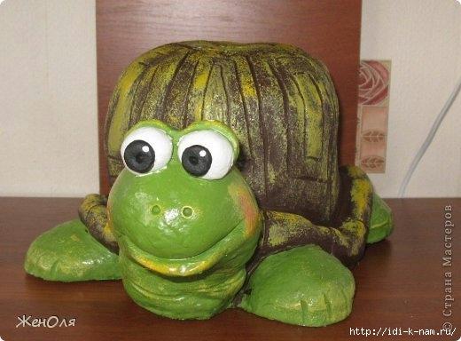 Черепаха для сада своими руками из гипса