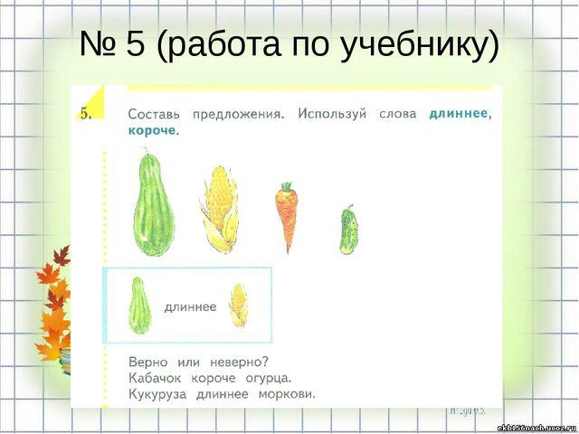 № 5 (работа по учебнику)