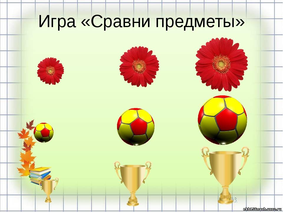 Игра «Сравни предметы»
