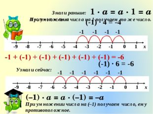 Знали раньше: 1 · a = a · 1 = a При умножении числа на 1 получаем то же число
