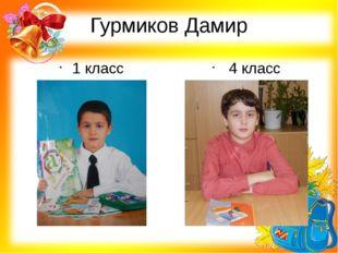Гурмиков Дамир 1 класс 4 класс