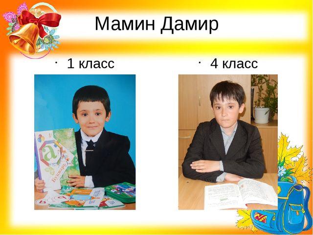 Мамин Дамир 1 класс 4 класс
