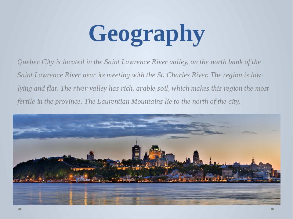 urban geography of qubec essay Urban geography of québec  [tags: persuasive essay] strong essays 1018 words | (29 pages) | preview proclamation act of 1763 - the proclamation act of 1763 was a major change for both the english and the french the english wanted to assimilate the french this was necessary for.