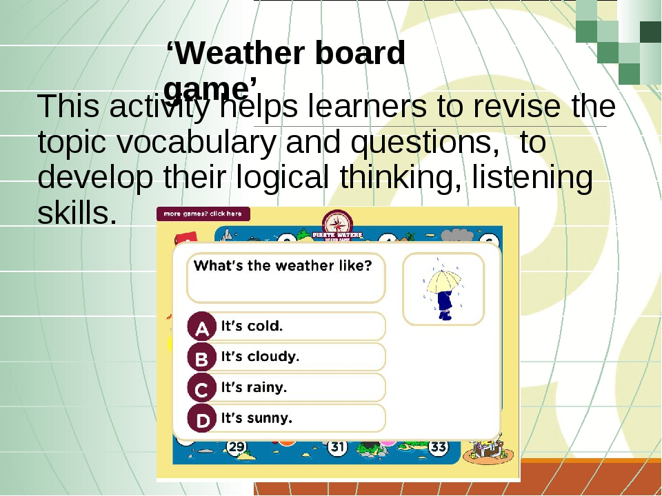 This activity helps learners to revise the topic vocabulary and questions, to...