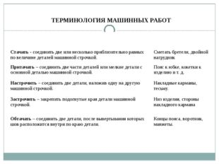 ТЕРМИНОЛОГИЯ МАШИННЫХ РАБОТ Названиеи содержание работы Примеры применения Ст