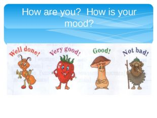 How are you? How is your mood?