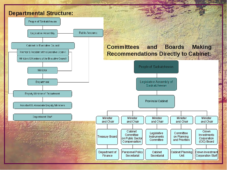 Departmental Structure: Committees and Boards Making Recommendations Directly...
