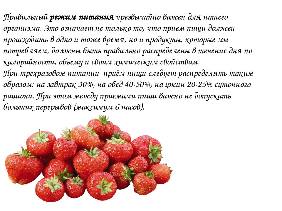 Правильный режим питания чрезвычайно важен для нашего организма. Это означает...
