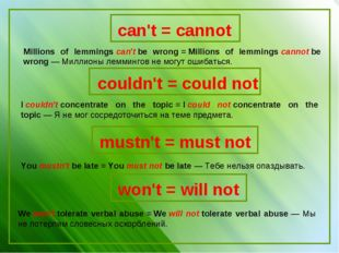 Millions of lemmingscan'tbe wrong=Millions of lemmingscannotbe wrong—