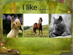 I like …..