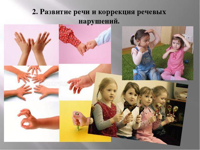 2. Развитие речи и коррекция речевых нарушений.
