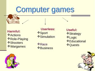 Harmful: Actions Role-Playing Shooters Wargames Userless: Sport Simulation Ra