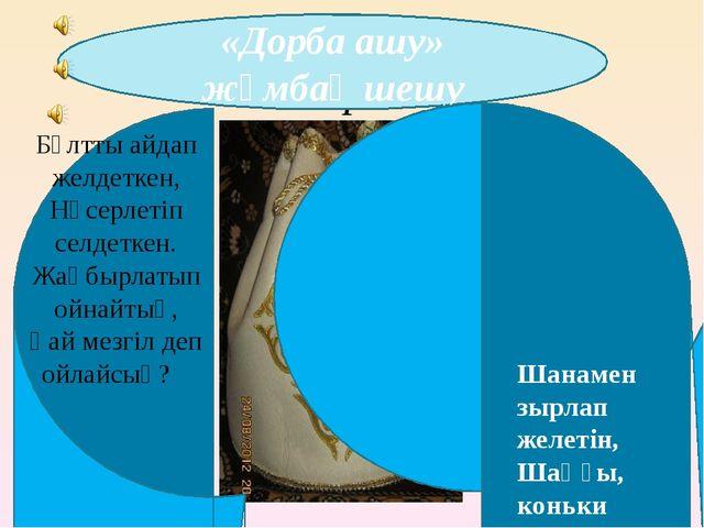 р7п «Дорба ашу» жұмбақ шешу Шанамен зырлап желетін, Шаңғы, коньки тебетін. Ақ...