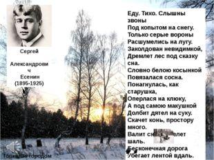 Сергей Александрович Есенин (1895-1925) «Пороша» Еду. Тихо. Слышны звоны Под