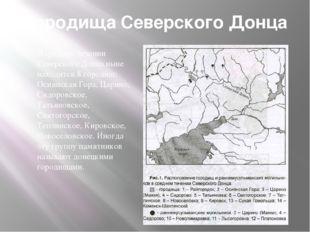 Городища Северского Донца В среднем течении Северского Донца ныне находятся 8
