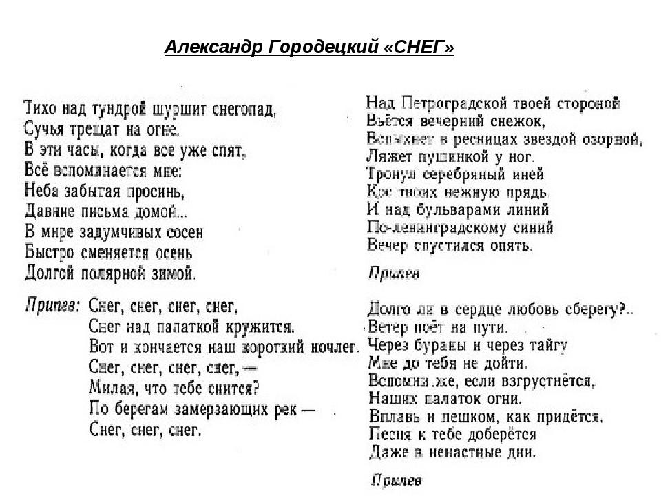 Александр Городецкий «СНЕГ»