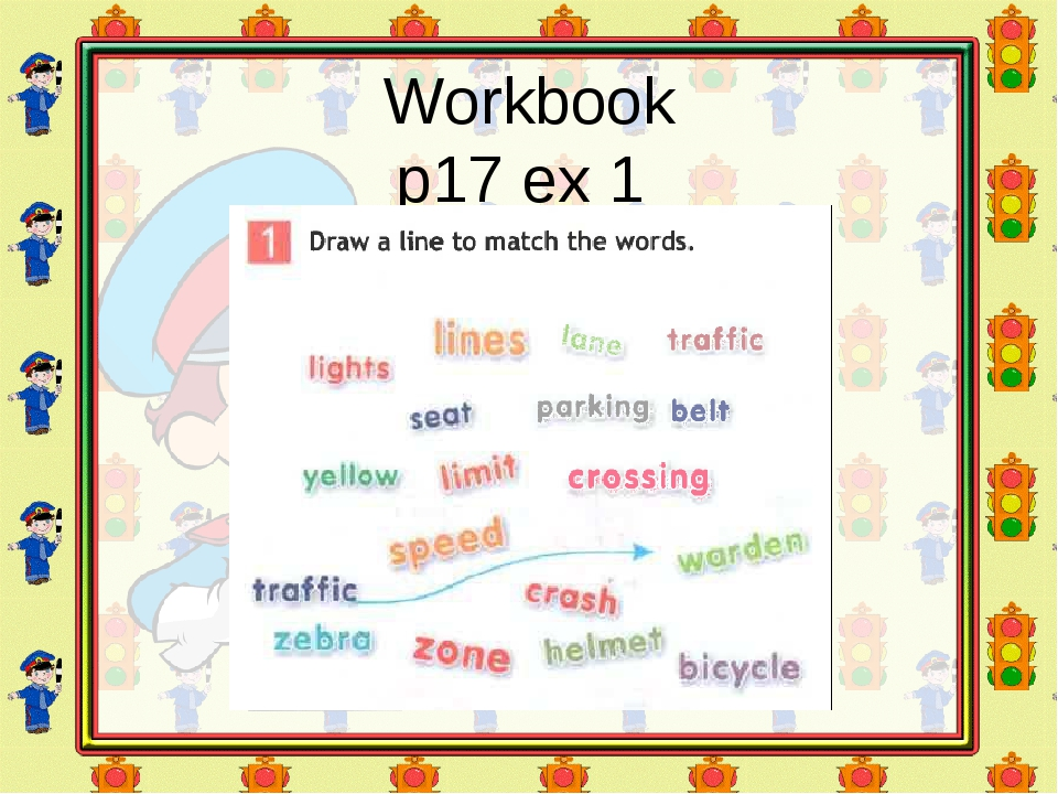 Workbook p17 ex 1