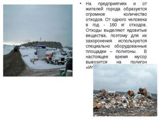 На предприятиях и от жителей города образуется огромное количество отходов. О