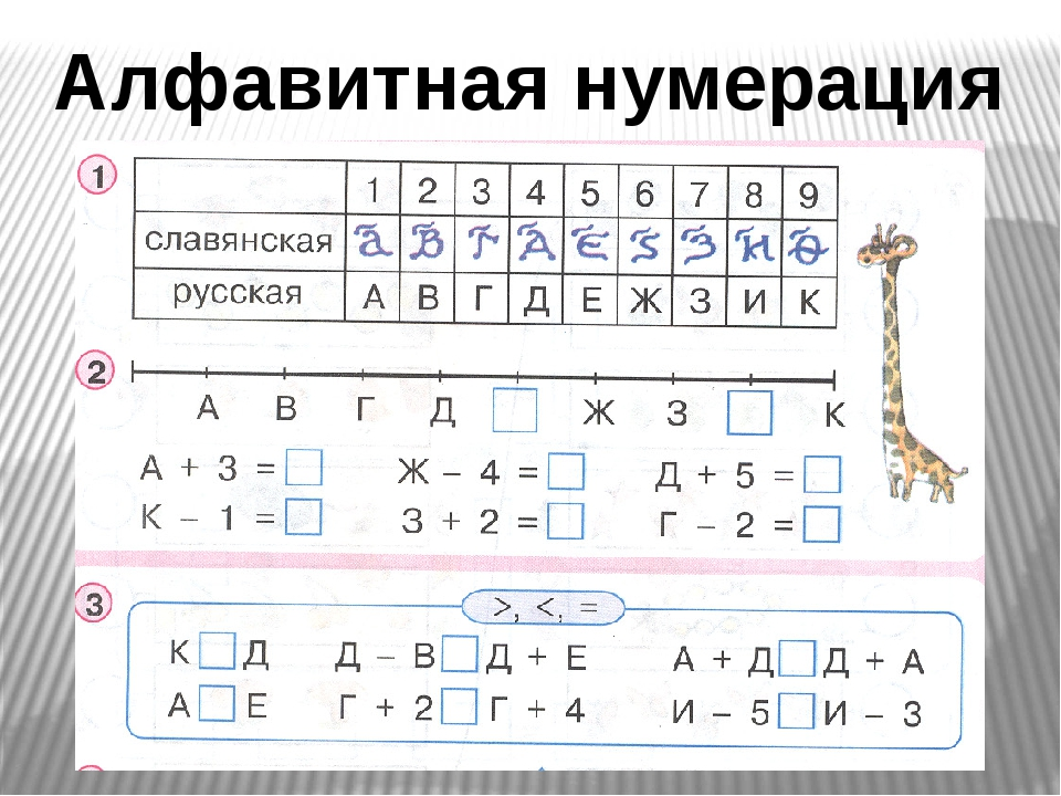 Алфавитная нумерация