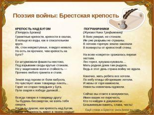 Поэзия войны: Брестская крепость КРЕПОСТЬ НАД БУГОМ (Петрусь Бровка) Грани