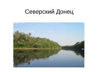 Северский Донец Среди огромного множества прекрасных, известных рек, текущих