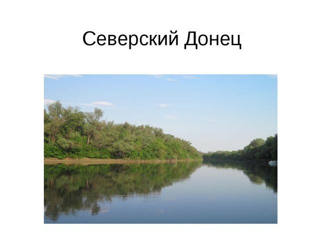 Северский Донец Среди огромного множества прекрасных, известных рек, текущих...