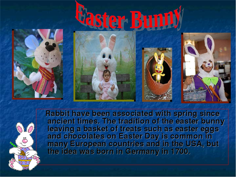 Rabbit have been associated with spring since ancient times. The tradition o...