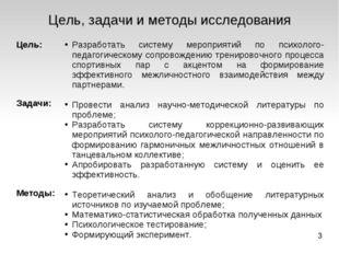 Цель, задачи и методы исследования Цель: Задачи: Методы: Разработать систему