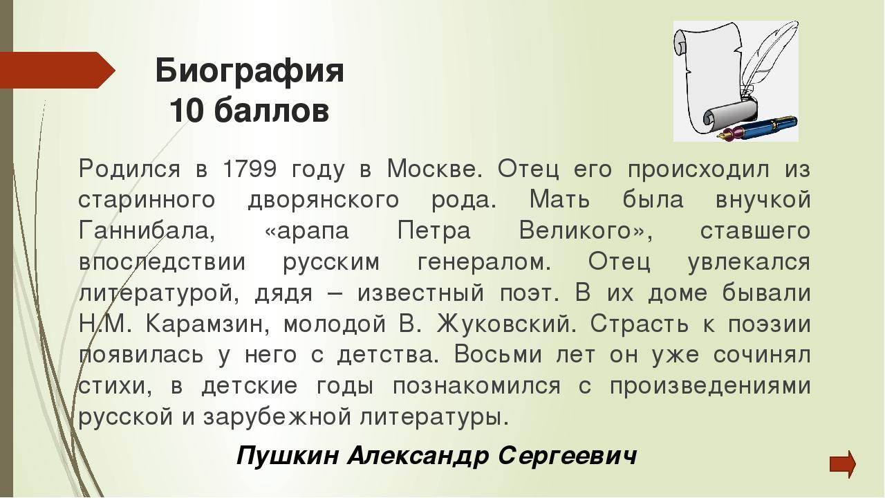 Биография 20 баллов Родился в городе Таганроге. Его дед – крепостной, откупив...