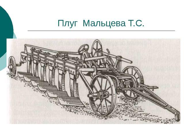 Плуг Мальцева Т.С.